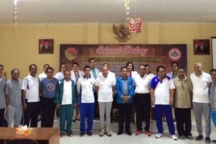 Para bakal calon peserta Pilkada Serentak 2018 di Provinsi NTT menjalani tes kesehatan di RSU WZ Johannes Kupang.