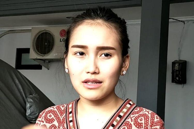 Penyanyi dangdut Ayu Ting Ting ditemui di kediamannya di Depok, Jawa Barat, Rabu (27/6/2018).