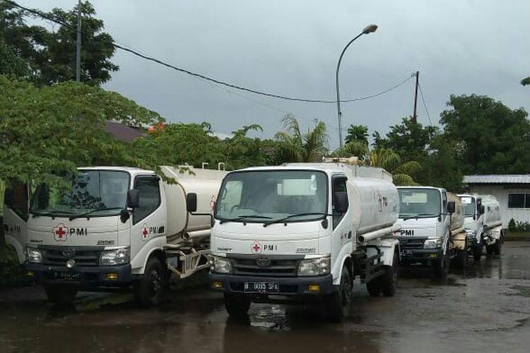 PMI kerahkan truk tangki air untuk korban gempa di Sulawesi Barat
