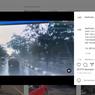 Video Ibu-ibu Terpeleset Ngerem Mendadak di Jalan Licin