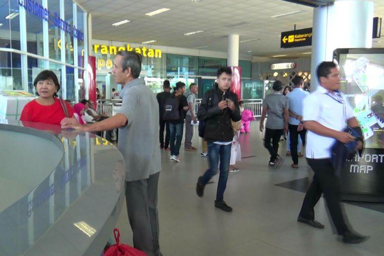 Suasana Bandara Depati Amir Pangkal Pinang.