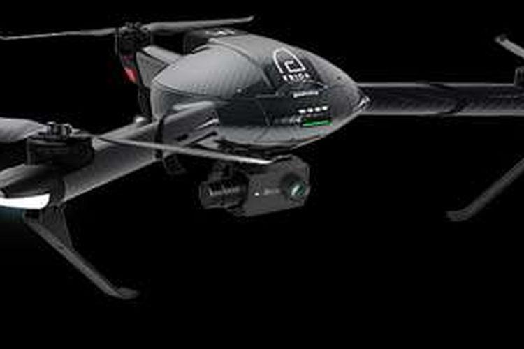 Drone Erida besutan Yi Technologies yang menggunakan bahan serat karbon.