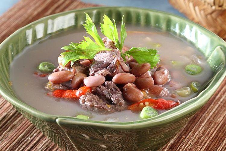 Ilustrasi sayur kacang merah khas Sunda ala Sajian Sedap.