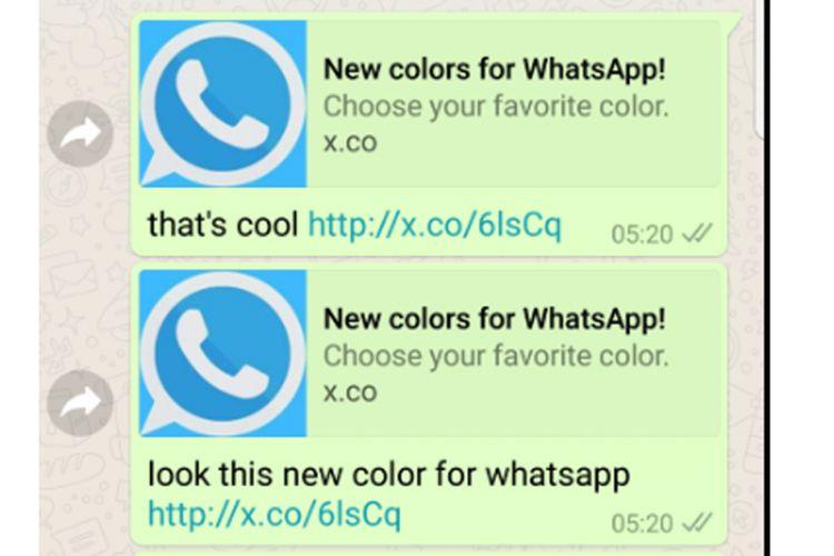 Awas Penipuan New Color For Whatsapp Bikin Android Banjir Iklan