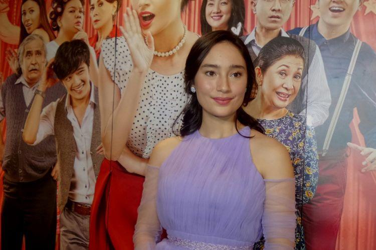 Tatjana Saphira saat menghadiri gala premier film Sweet 20 di CGV Cinemas Grand Indonesia, Jakarta Pusat, pada Jumat (16/6/2017) malam.