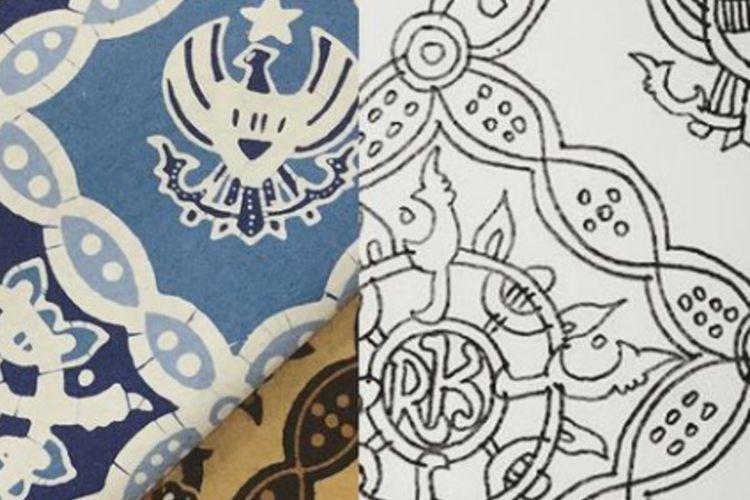 Gubernur Jawa Barat Ridwan Kamil mendesain batik hasil imajinasinya yang diberi nama Batik Garuda Kujang Kencana.