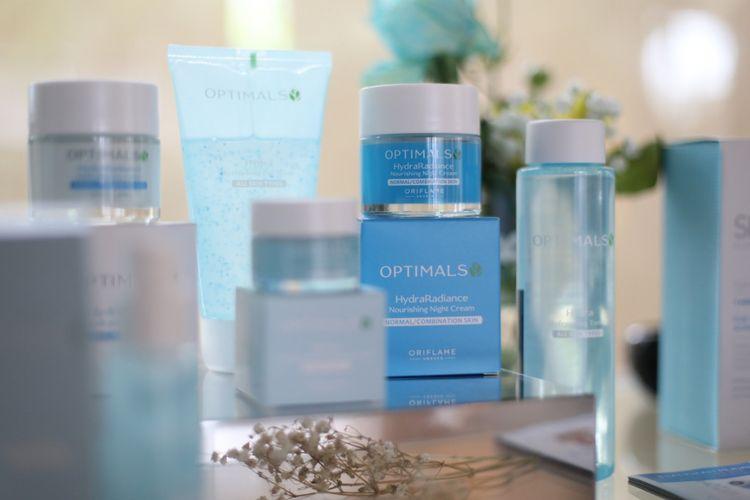 Rangkaian produk Optimal Hydra Radiance dari Oriflame.