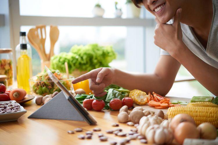 Ilustrasi memasak makanan sehat