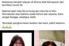 [HOAKS] Relawan Kakak Beradik di RSD Wisma Atlet Meninggal Dunia