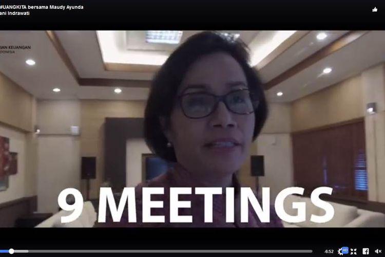 Menteri Keuangan Sri Mulyani Indrawati melakukan vlog untuk mengajak anak muda kritis mengawasi penggunaan anggaran negara.