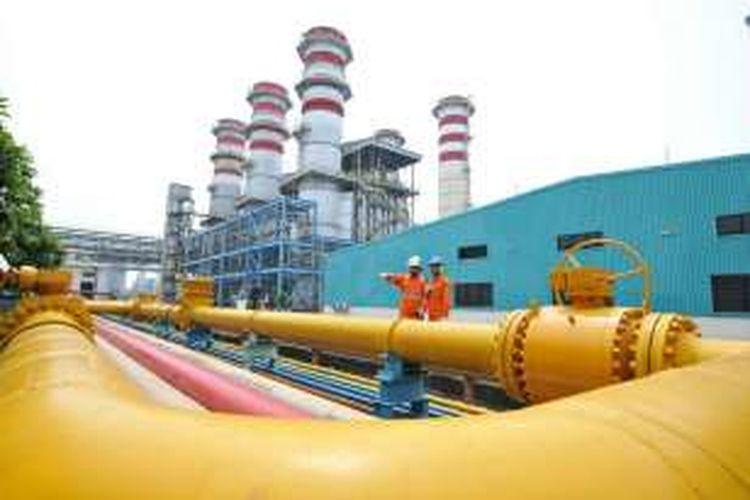 Ilustrasi pipa gas diPLTGU
