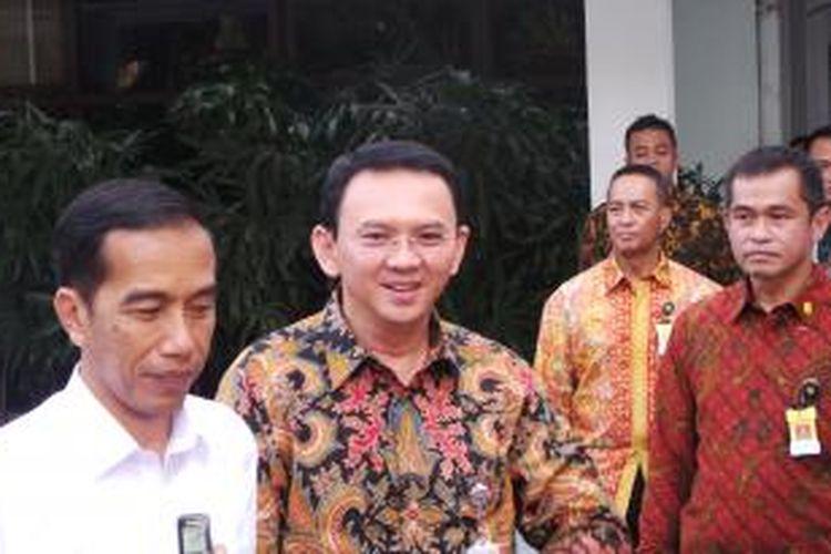 Presiden Joko Widodo dan Gubernur DKI Jakarta Basuki Tjahaja Purnama, di Balai Kota, Jumat (13/3/2015).