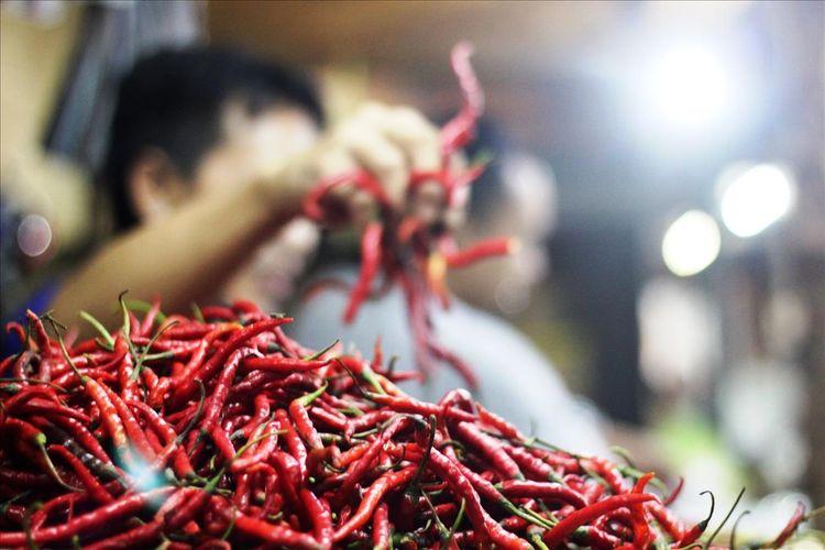 Harga cabai di Kabupaten Cianjur, Jawa Barat, jelang bulan suci Ramadhan sempat menembus kisaran Rp 140.000 per kilogram.