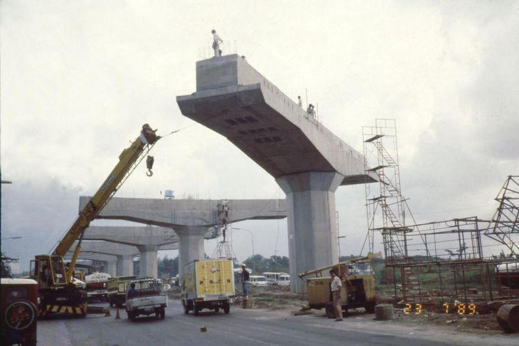 Ilustrasi pembangunan konstruksi yang dijalankan oleh PT Hutama Karya (Persero),