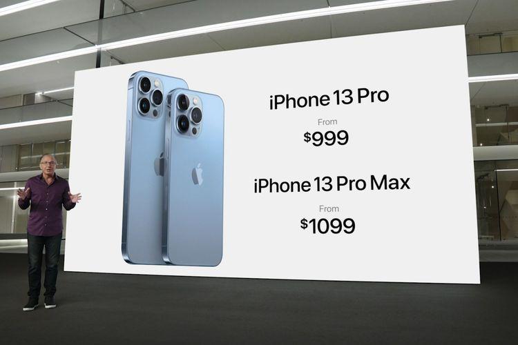 Harga iPhone 13 Pro dan iPhone 13 Pro Max.