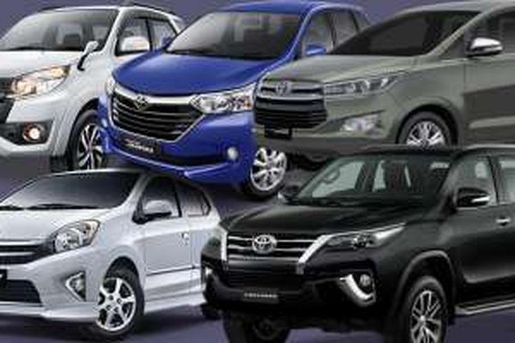 Inilah lima mobil Toyota yang meraih Top Brand Award di kategorinya masing-masing.