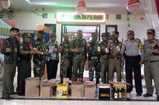 Puluhan Botol Miras Disita Saat Operasi Pekat di Tambora