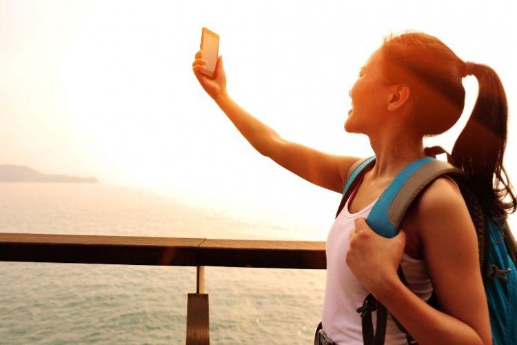 Selfie saat traveling