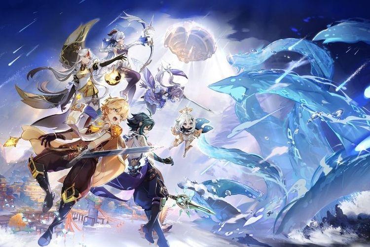 Ilustrasi Genshin Impact.