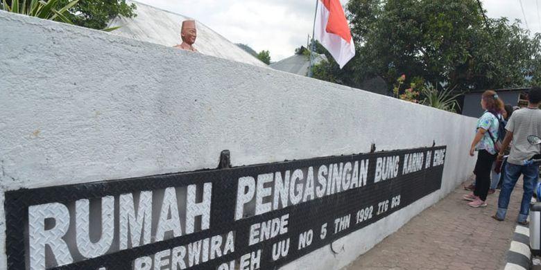 Situs Rumah Pengasingan Bung Karno di kota Ende, Pulau Flores, Nusa Tenggara Timur, Jumat (14/9/2018).