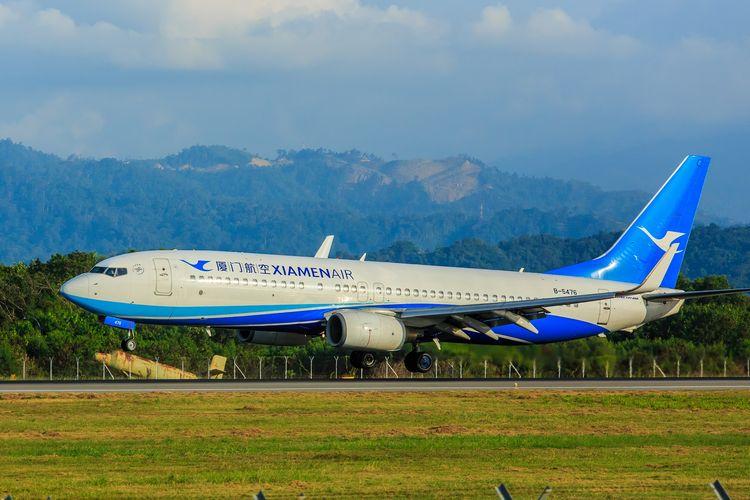Ilustrasi maskapai Xiamen Airlines.