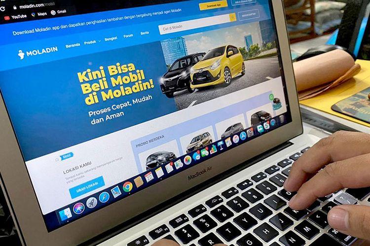 Situs web moladin.com , kini dapat digunakan untuk membeli mobil baru.
