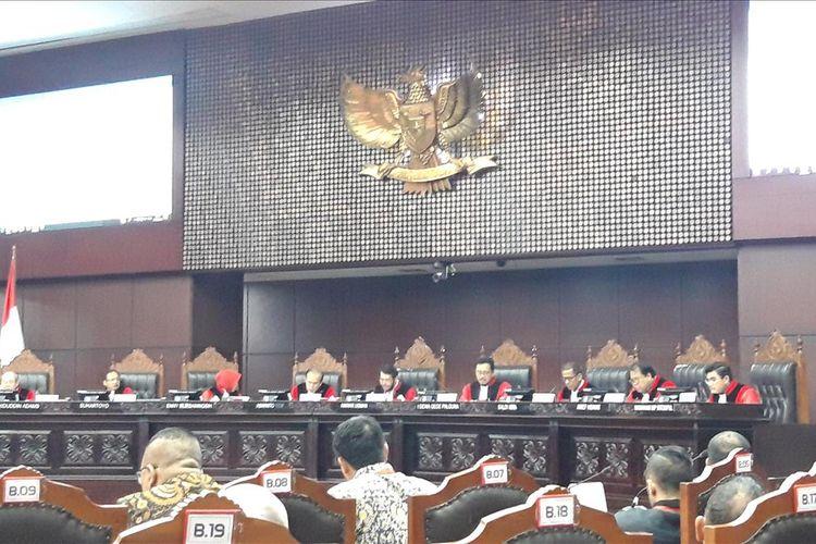 Sidang gugatan Nasdem terkait kehilangan suara di luar negeri (Malaysia) di Mahkamah Konstitusi, Rabu (7/8/2019)