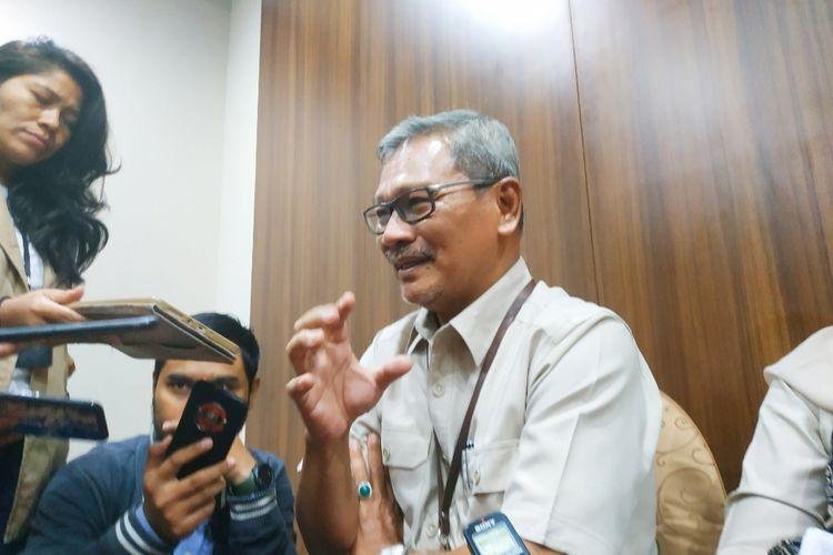 Sekretaris Direktorat Jenderal Pencegahan dan Pengendalian Penyakit Kementerian Kesehatan (Kemenkes) Achmad Yurianto dalam jumpa pers di Gedung Kemenkes, Kuningan, Jakarta Selatan, Senin (10/2/2020).