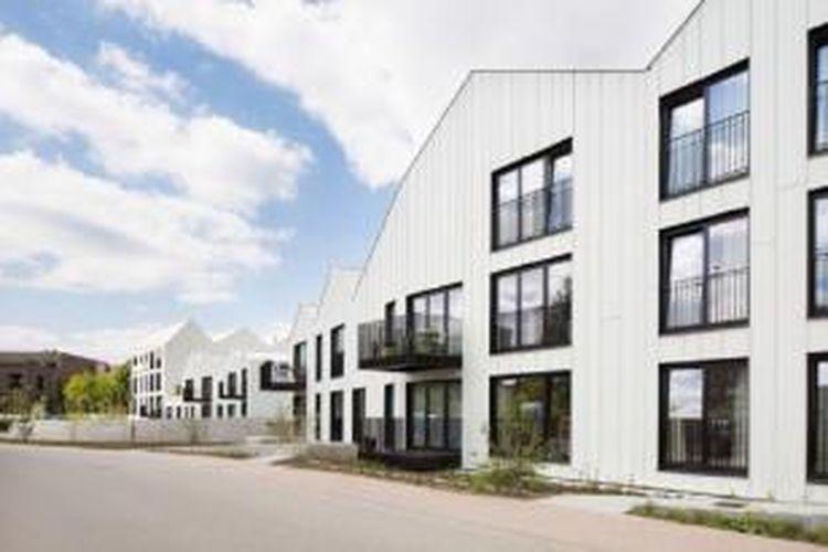 Bangunan ini dirancang oleh Bogdan & Van Broeck Architects, untuk mengurangi tingkat kepadatan struktur rumah di salah satu desa di Belgia.