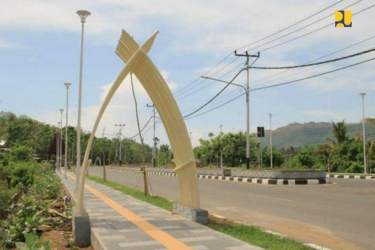 Akses jalan menuju KSPN Mandalika