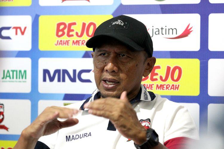 Pelatih Madura United musim 2020, Rahmad Darmawan.