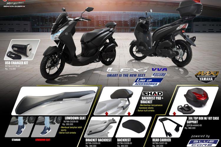 Yamaha memberikan aksesori tambahan untuk skutik Lexi