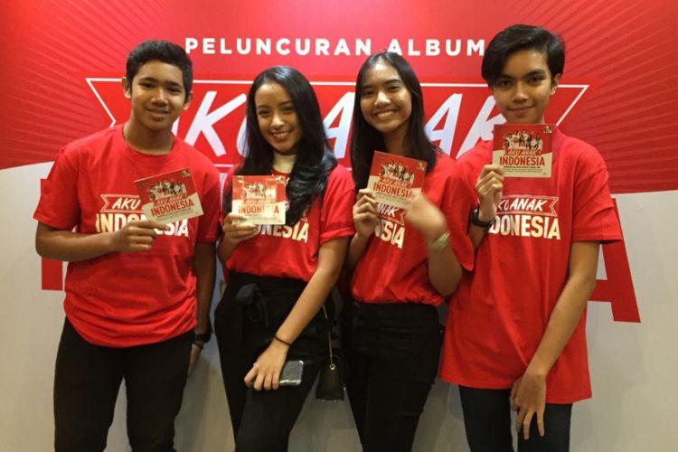 The Voice Kids Indonesia merilis album Aku Anak Indonesia di kawasan Kemang, Jakarta Selatan, Rabu (6/6/2018).