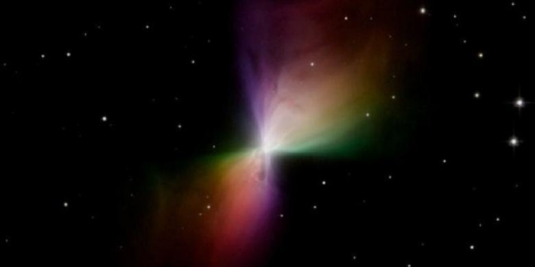 Nebula Bumerang seperti dalam citra teleskop Hubble. Baru-baru ini, ilmuwan mengungkap bahwa bentuk hasil citra Hubble itu mungkin salah.