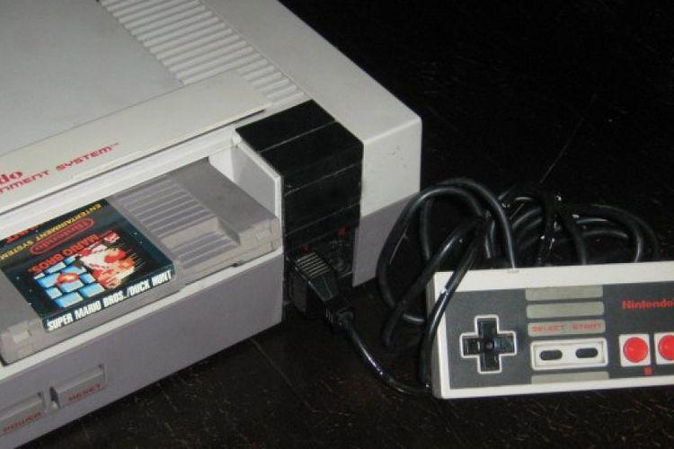 Ilustrasi bermain game di konsol NES