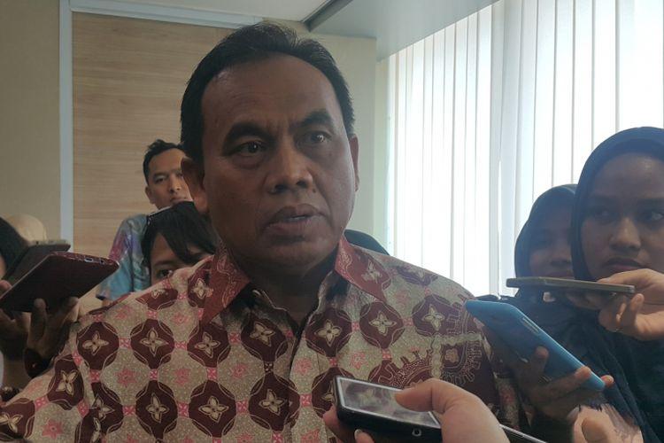 Sekretaris Daerah DKI Jakarta Saefullah di Balai Kota DKI Jakarta, Jalan Medan Merdeka Selatan, Jumat (20/10/2017).