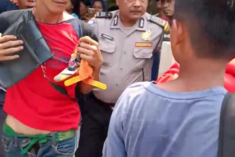 Pedagang Macilor yang mencabuli 3 siswi di Cengkareng(KOMPAS.com/ BONFILIO MAHENDRA WAHANAPUTRA LADJAR)
