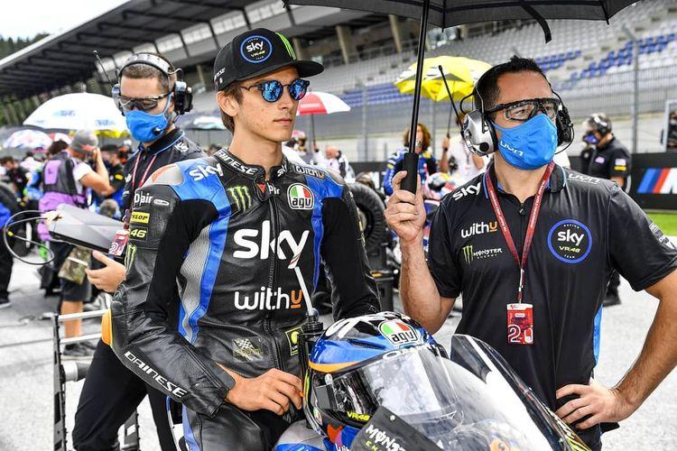 Luca Marini, pebalap tim Sky Racing VR46