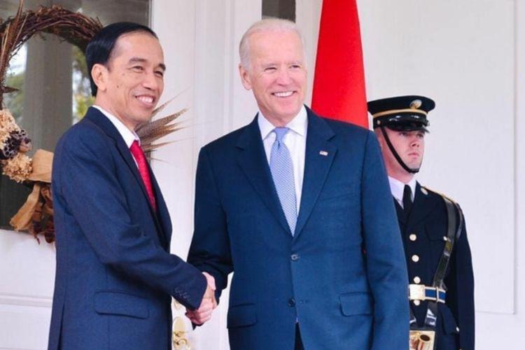 Unggahan Presiden Joko Widodo di Instagram @jokowi sampaikan ucapan selamat kepada Presiden AS ke-49 Joe Biden.