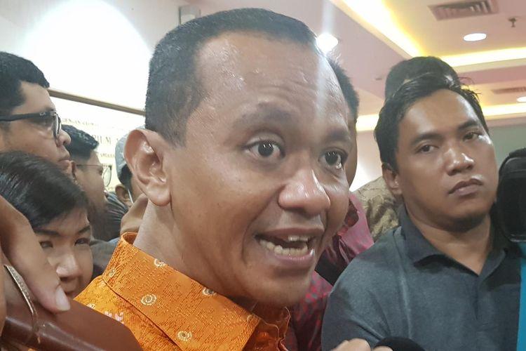 Kepala BKPM Bahlil Lahadalia saat ditemui usai acara Seminar Nasional bertajuk Membangun Optimisme dan Peluang di Tengah Ketidakpastian di Wisma Antara, Jakarta Pusat, Senin (3/2/2020).