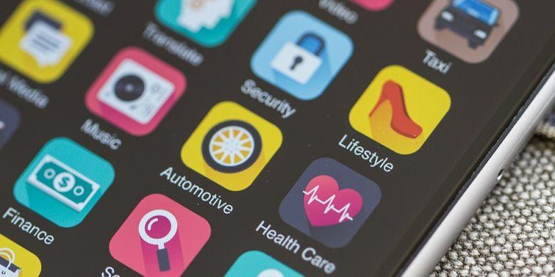 Ilustrasi aplikasi smartphone