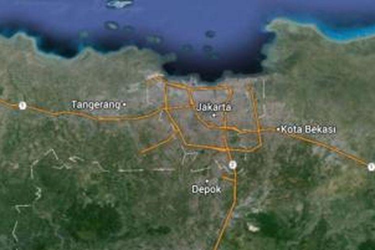 DKI Jakarta dilihat dari Jakarta, diunduh pada Jumat (24/10/2014). Dibandingkan wilayah lain, wilayah ini tak punya banyak