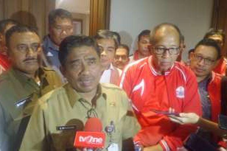 Temui Plt Gubernur DKI Sumarsono, Atlet PON DKI minta maaf atas insiden protes bonus yang dijanjikan Pemprov DKI, Selasa (10/1/2017)