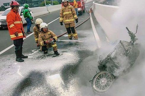 Motor Terbakar di JLNT, Ingat Lagi Dasar Hukum Larangannya