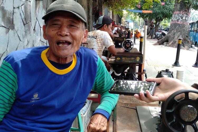 Sutaryono saat ditemui di jalan Selamat Riyadi, Jakarta Timur, Jumat (24/7/2020)