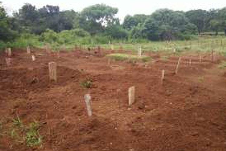 Blok makam khusus jenazah-jenazah tanpa identitas di TPU Pondok Ranggon.
