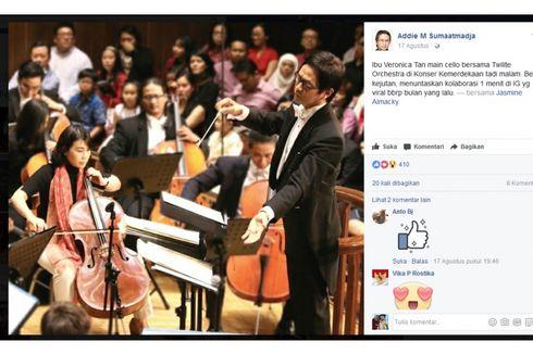 Viral, Video Veronica Tan Main Cello di Konser Kemerdekaan RI