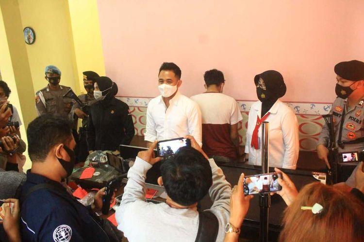 jumpa pers Polresta Mataram terkait pelaku pencurian brankas