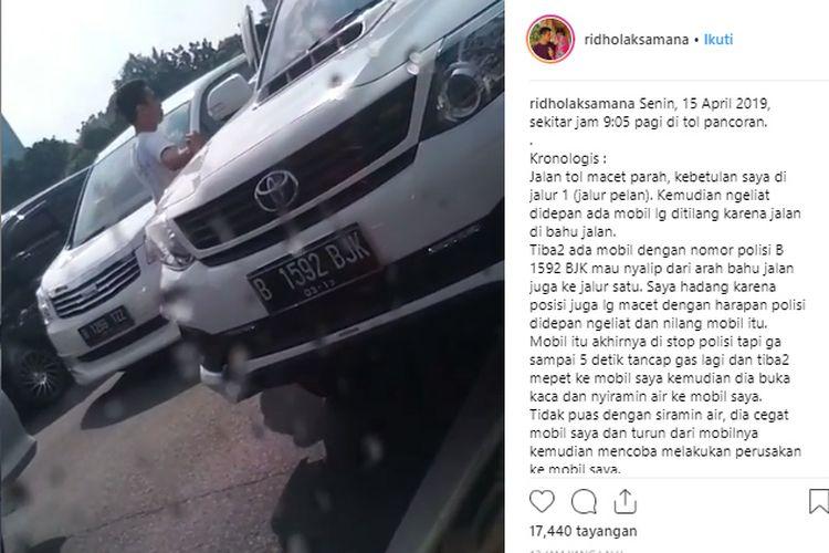 Aksi Arogan Pengendara Fortuner di Tol Pancoran