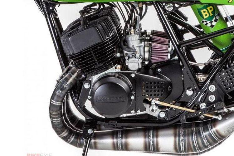 Ilustrasi mesin motor 2-Tak